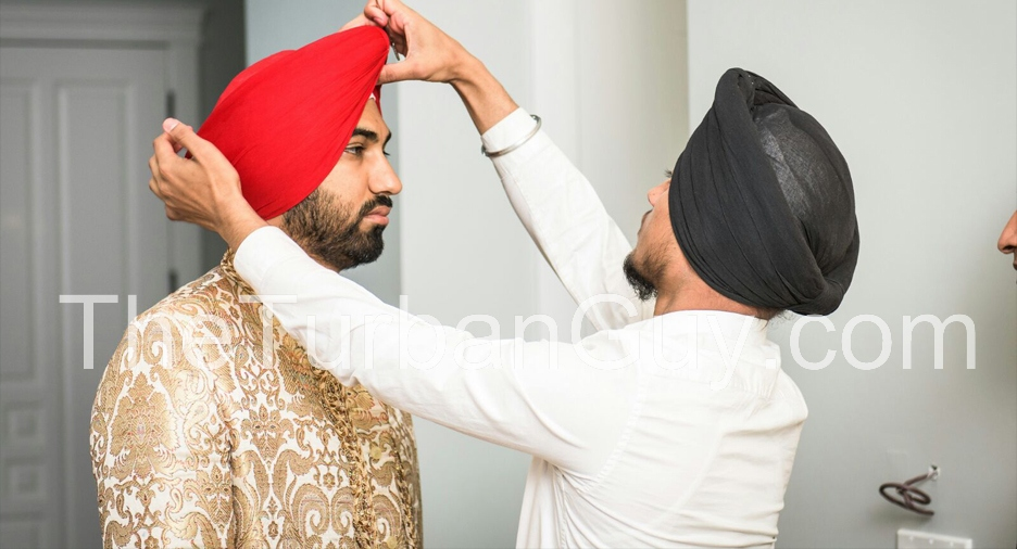 Turban Tying in Richmond, BC, Canada